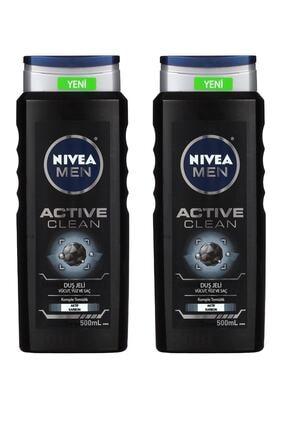 Nivea Duş Jeli Erkek Active Clean 500 ml X 2 Adet
