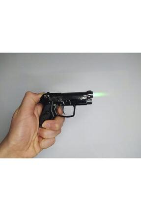 Gamerstoys Minyatür Avuç Içi Küçük Silah Figür Çakmak - Özel Yeşil Alevli