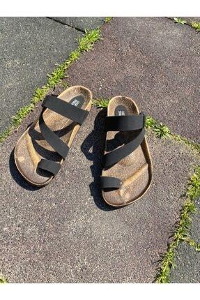 Ekol Ayakkabi Kadın Siyah Tek Parmak Terlik