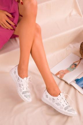 SOHO Beyaz Kadın Casual Ayakkabı 16185