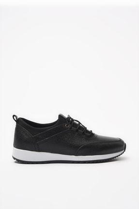 Hotiç Hakiki Deri Siyah Erkek Sneaker 02AYH195860A100