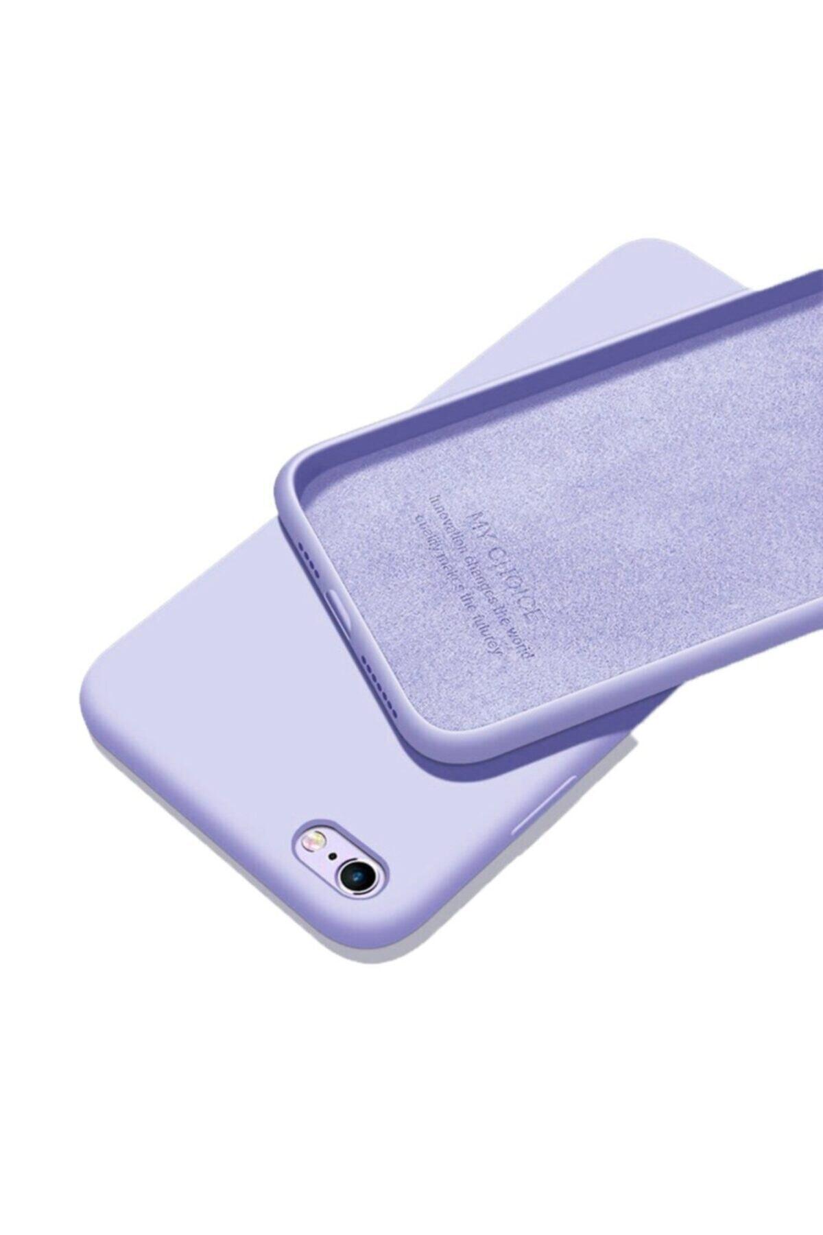Mopal Mor Iphone 6 6s Uyumlu İçi Kadife Lansman Silikon Kılıf 1