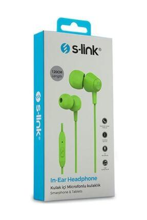 S-LINK Sl-ku160 Mobil Telefon Uyumlu Yeşil Kulak Içi Mikrofonlu Kulaklık