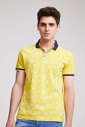 D'S Damat Slim Fit Sarı T-shirt
