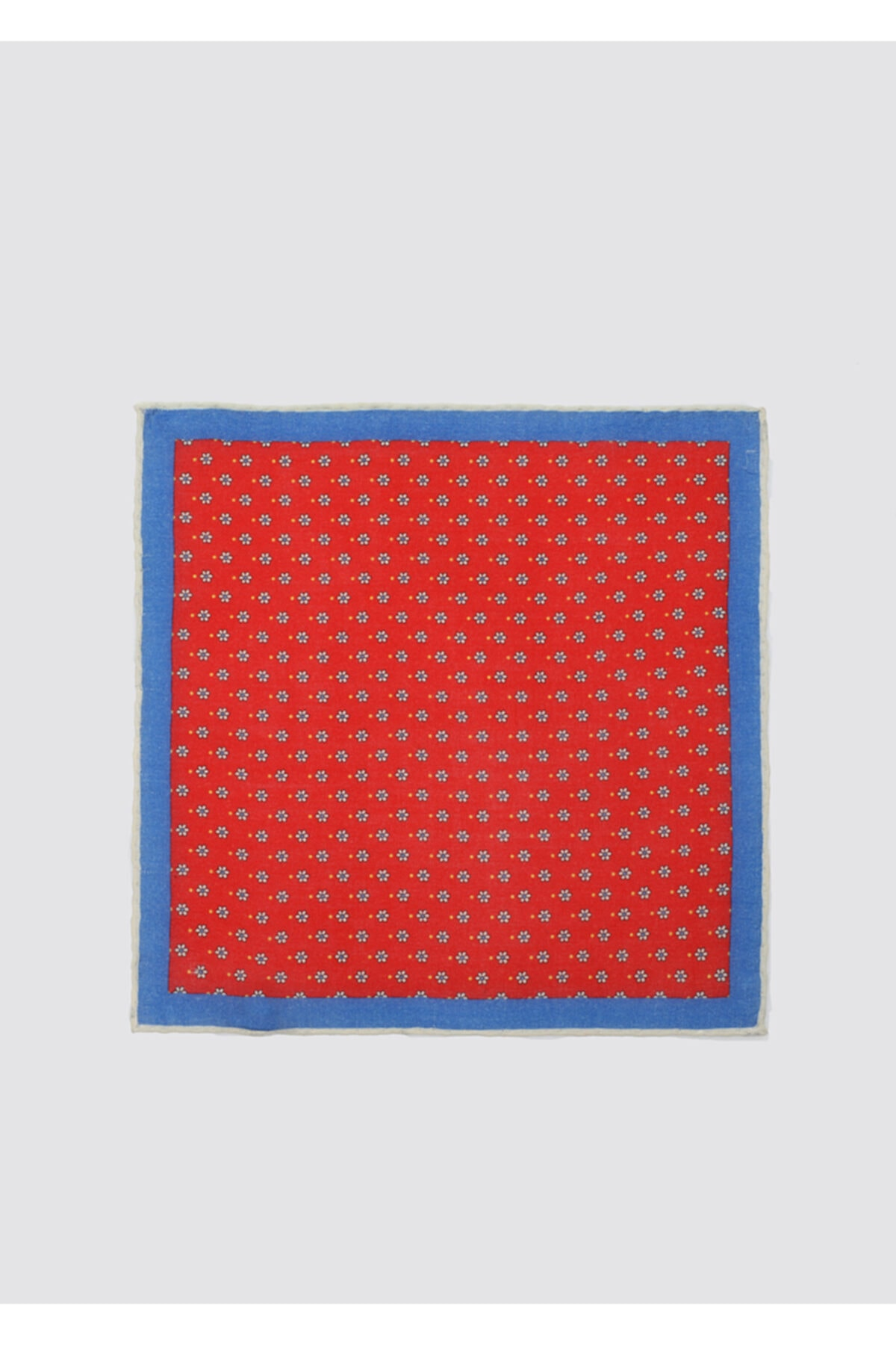 D'S Damat Erkek Kırmızı Mavi Desenli Mendil 1