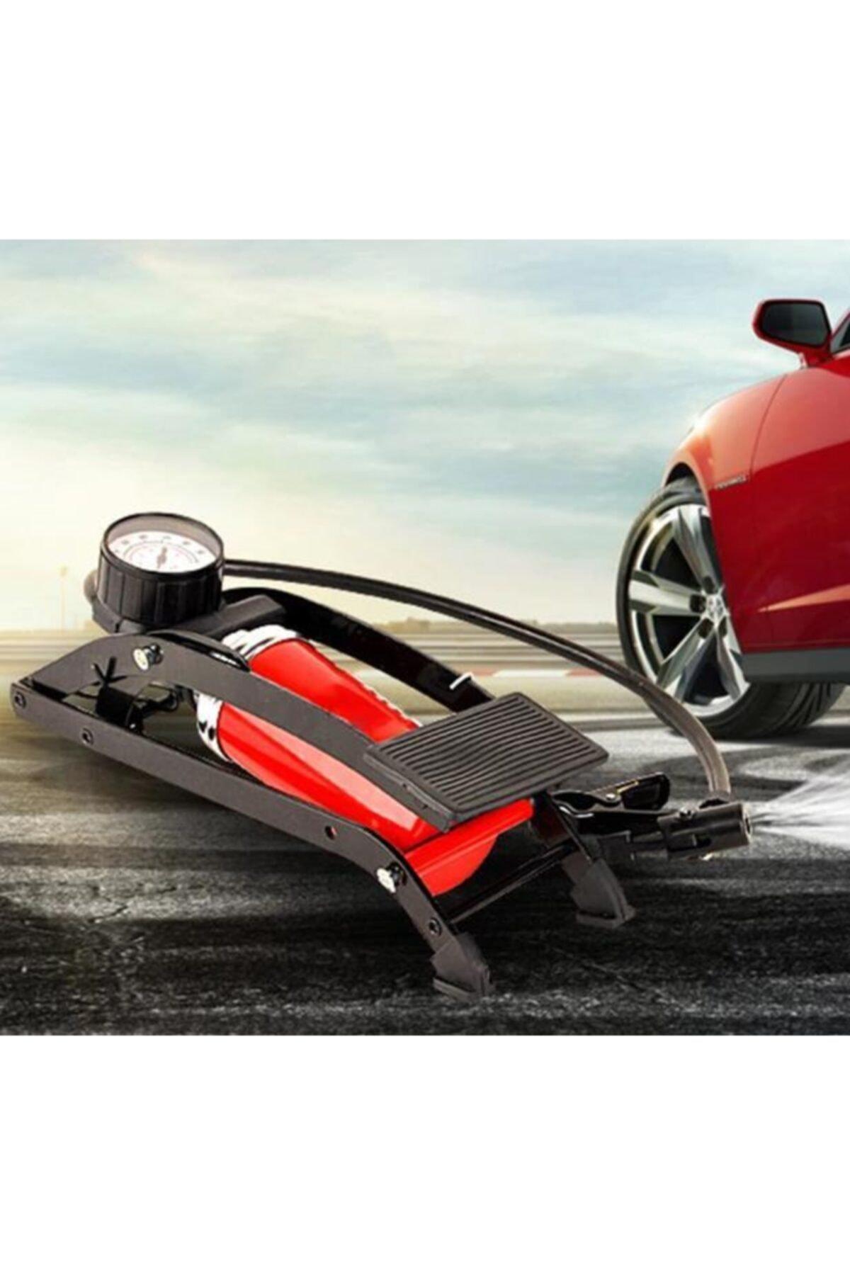 MasterCar Basınç Göstergeli Top Bisiklet Araba Ayak Pompası 1