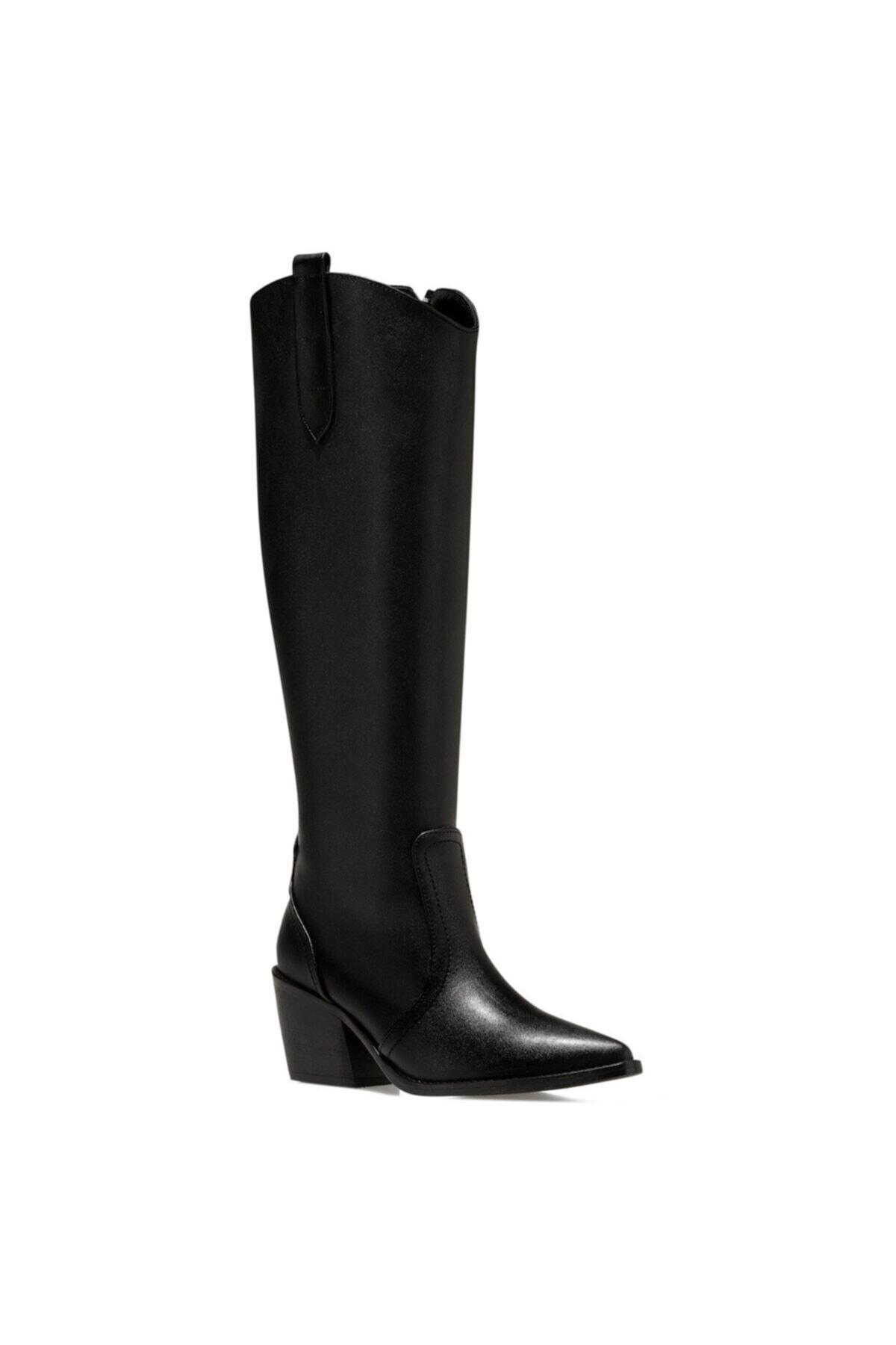 Nine West VINCENZA Siyah Kadın Ökçeli Çizme 100555812 2