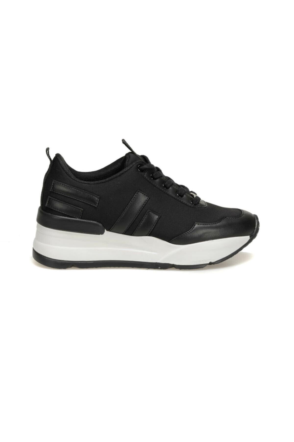 Butigo Z003-19K Siyah Kadın Kalın Taban Sneaker Spor Ayakkabı 100440395 2