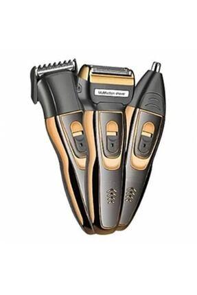 Insua Şarjlı Saç sakal Traş Makinesi Burun Kılı Alma 3 Başlıklı Set