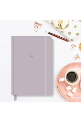 AKILLICA Notebook Lastikli Düz Çizgisiz Sert Kapak Defter 13x21 Cm Hardcover Notebook Purple