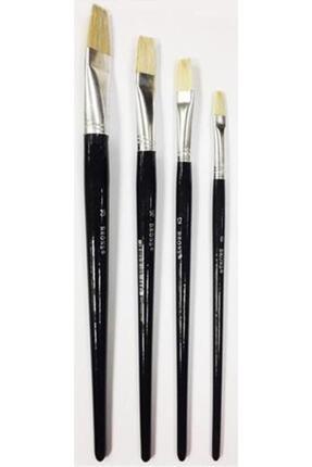 Brons 4'lü Yağlı Ve Akrilik Boya Fırça Seti 6-8-10-12 Numaralı