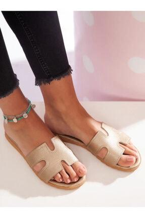 ayakkabıhavuzu Kadın Gold Terlik