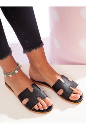 ayakkabıhavuzu Kadın Siyah Terlik