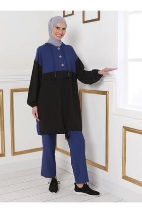Tavin Kadın Saks Mavisi Tunik&pantolon Ikili Takım 1521255