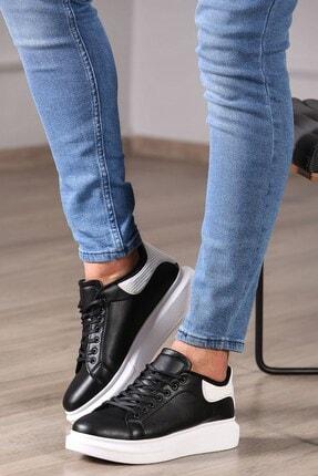 Madmext Erkek Siyah Beyaz Sneaker Ms041