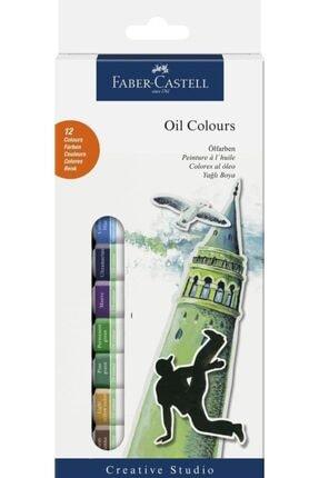 Faber Castell Faber-castell Yağlı Boya 12 Renk 12 Ml Tüp 5188169502000