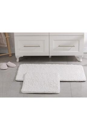 English Home Sheep Polyester Banyo Paspası Seti 50x80 - 45x50 Cm Beyaz