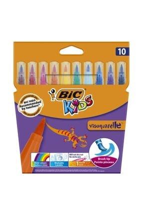 Bic Kids Visaquarelle 10 Renk Fırça Uçlu Keçeli