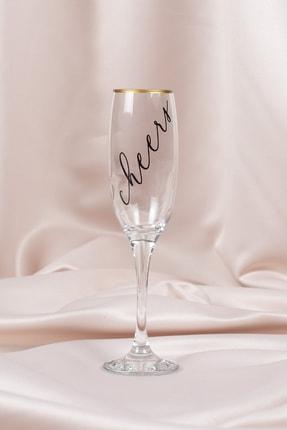 About The Gift Özel Tasarım Cheers Baskılı Şampanya Kadehi