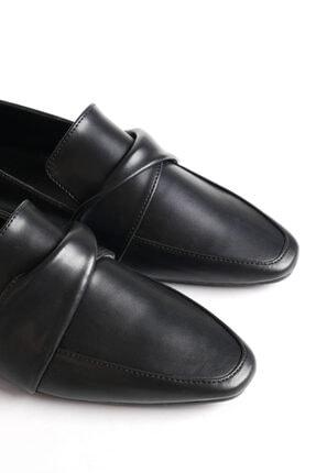 Marjin Kadın Siyah Loafer Ayakkabı Dolinva