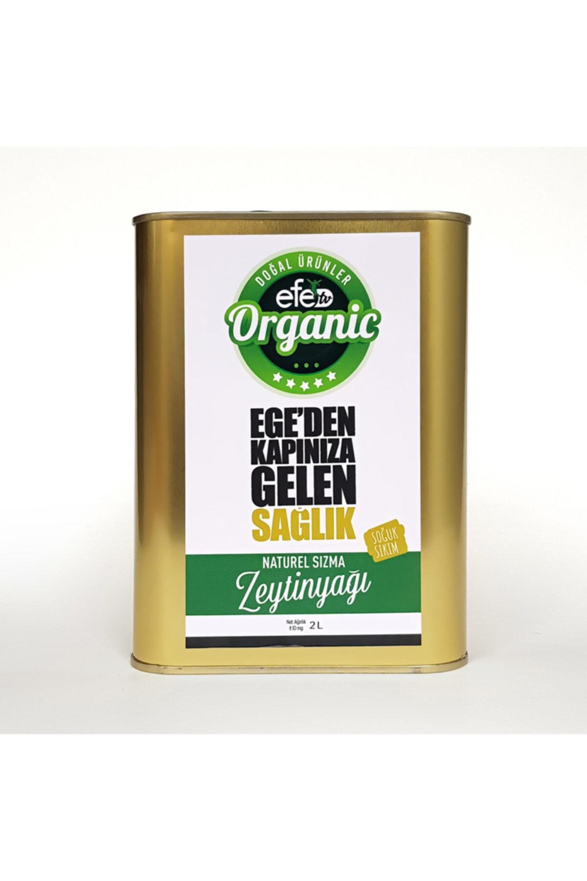 Efe Organik Doğal Soğuk Sıkım Sızma Zeytin Yağı 2 ltTeneke 1