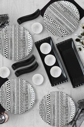 Keramika Cool Black Kahvaltı Seti 15 Parça 4 Kişilik - 18607