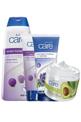 AVON Even Tone-C Vitamin Kompleks Ve Care Lavanta Avokado Kokulu El Vücut Bakım Paketi