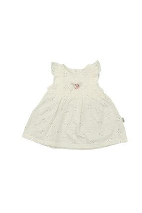 Flexi Kız Bebek Krem Yazlık Penye Elbise