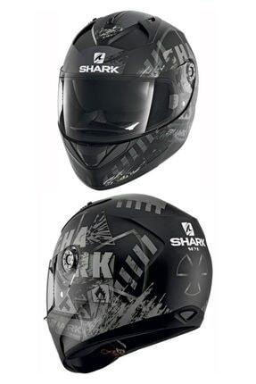 Shark Rıdıll Boş Skyd Mat Siyah Motosiklet Kask ------- Xl Beden