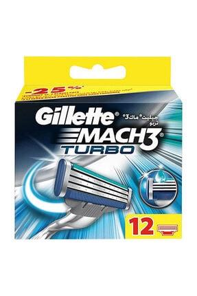 Gillette Mach3 Turbo Yedek Tıraş Bıçağı 12'li