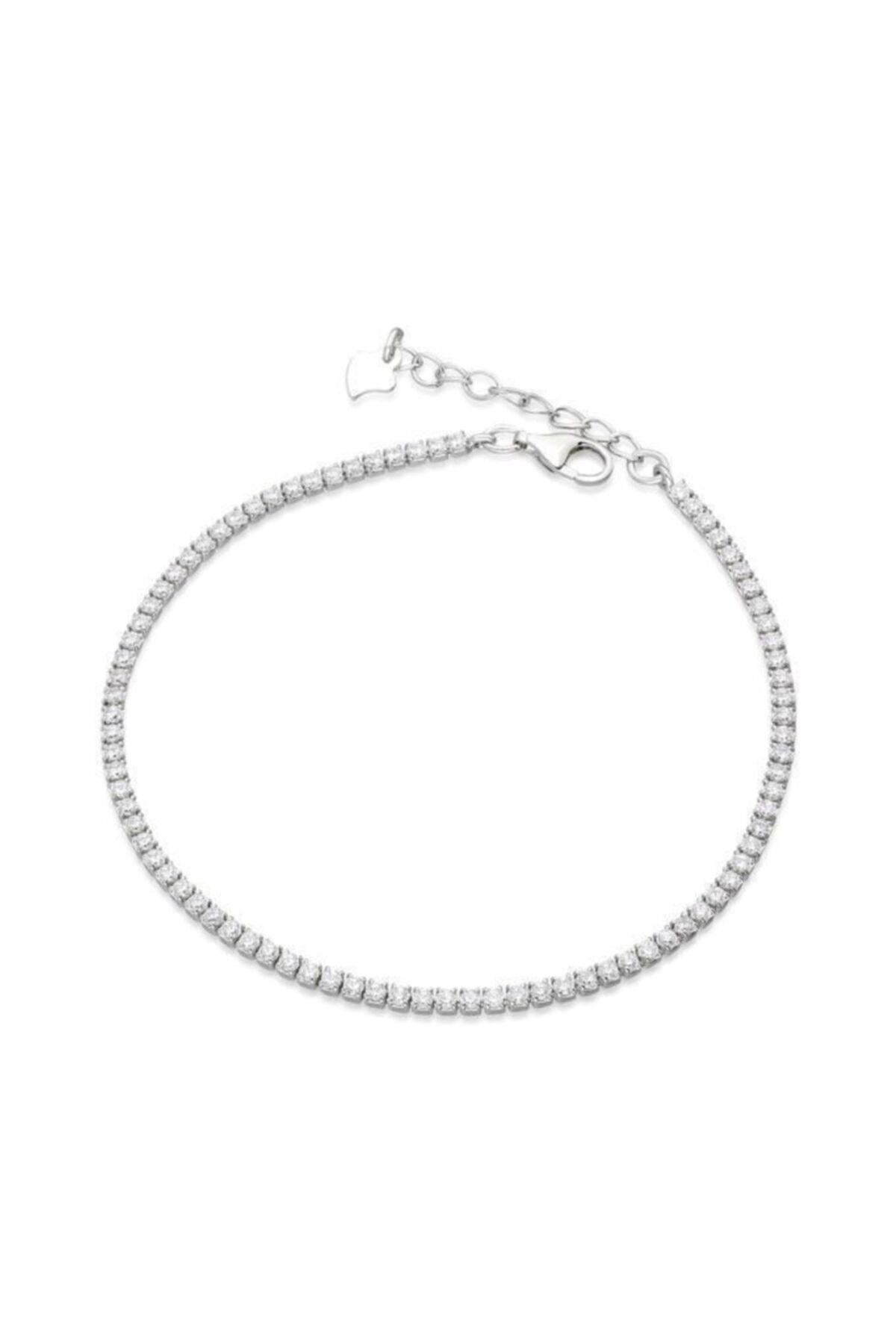 Aykat Su Yolu Bileklik Gümüş Taşlı Ince Bayan Bilekliği Blk-316 1