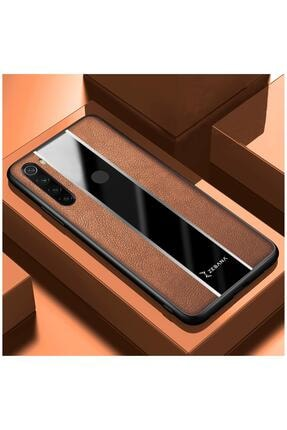 Dara Aksesuar Xiaomi Redmi Note 8 Uyumlu Kahverengi Deri Telefon Kılıfı