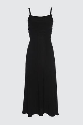 TRENDYOLMİLLA Siyah Sırt Detaylı  Elbise TPRSS21EL1056