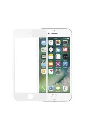 SKV MOBILE Iphone 7 Plus 8 Plus Uyumlu Tam Kapatan Cam Ekran Koruyucu Beyaz