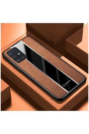 Dara Aksesuar Samsung Galaxy A51 Uyumlu Kahverengi Deri Telefon Kılıfı