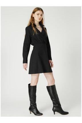 Fabrika Kadın Siyah Düz Elbise