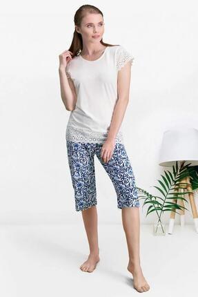 Pierre Cardin Kapri Takım 2 Li Kadın Pijama Ev Kıyafeti 7553