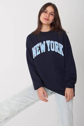 Addax Yazı Detaylı Sweatshirt S9511 - S5