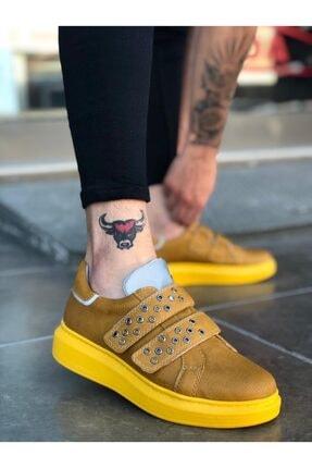 Erbilden Er0136 Erb Reflektörlü Sarı Cırtlı Kalın Taban Erkek Ayakkabı