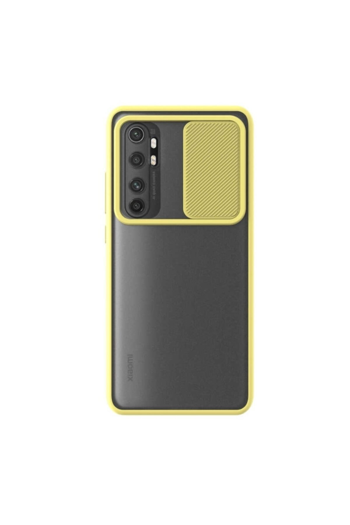 Xiaomi Teleplus Mi Note 10 Lite Uyumlu  Kılıf Lensi Kamera Korumalı Silikon Sarı 1