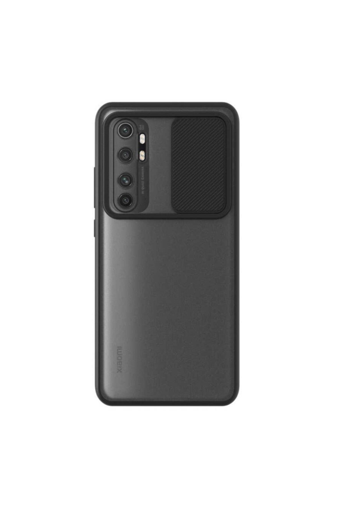Xiaomi Teleplus Mi Note 10 Lite Uyumlu Siyah Lensi Kamera Korumalı Silikon Kılıf 1
