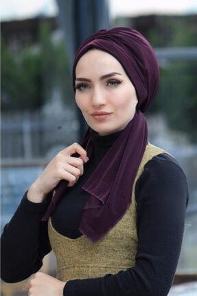 Sahra Şal Dünyası Kadın Mürdüm Bone