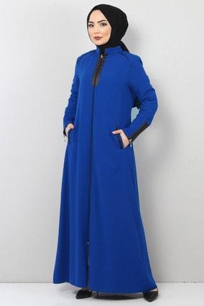 Tesettür Dünyası Fermuar Detaylı Tesettür Elbise Tsd2201 Indigo