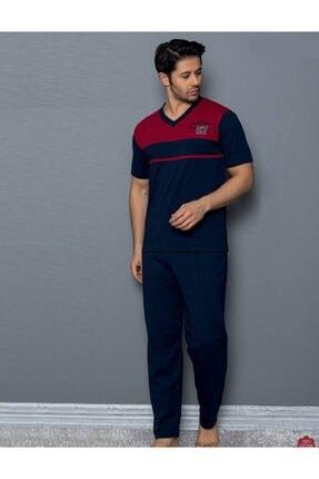 MUSMERY Erkek Pijama Takımı Kısa Kollu