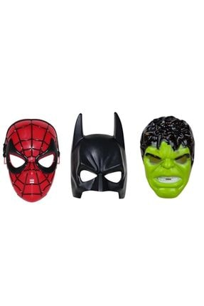 MTG OYUNCAK Avengers Süper Set Spiderman Örümcek Adam Batman Hulk Maske 3 Lü