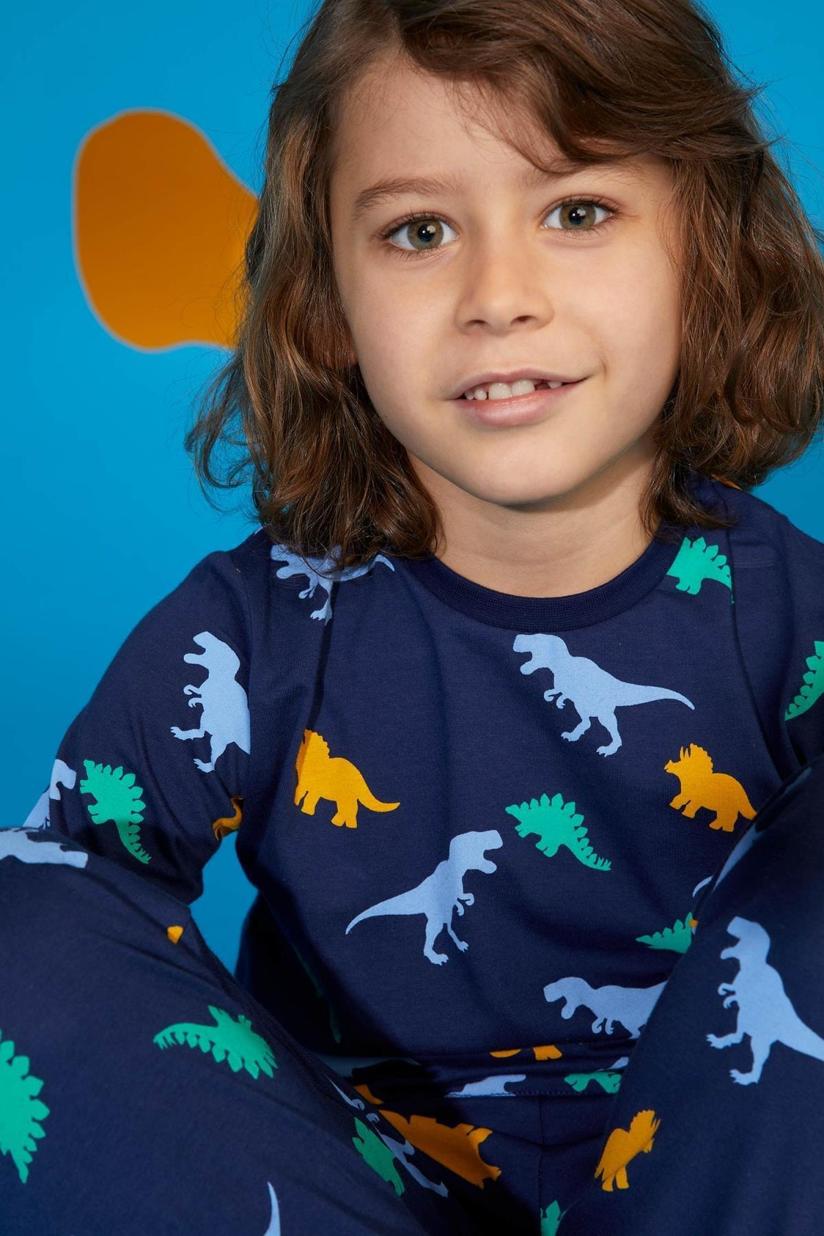 DeFacto Erkek Çocuk Dinozor Baskılı Pijama Takım 2