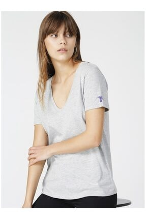 Fabrika Kadın Gri Tişört