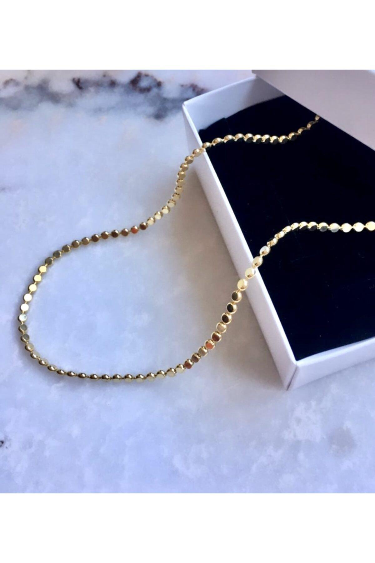 Collection by Duygu Şahin Yassı Top Zincir Gold Kolye 2