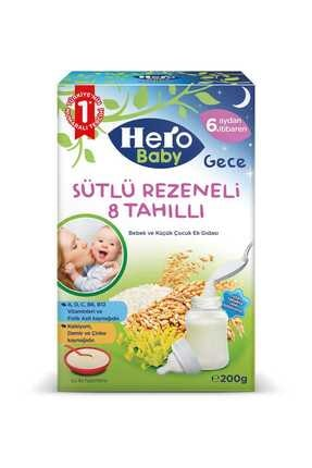 Hero Baby Sütlü 8 Tahıllı Rezeneli Ek Besın 200 gr Kavanoz Maması