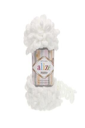 Alize Subebek 5 Adet Puffy El Örgü Ipliği Renk:55 Beyaz